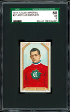 1911-12 C55 Imperial Tobacco #37 Arthur Bernier SGC 60