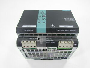 SIEMENS 6EP1436-3BA00 SITOP 24VDC 20A POWER SUPPLY