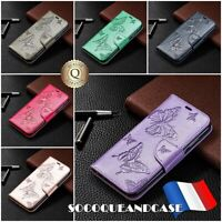Etui Coque Housse BUTTERFLY Cuir PU Leather Wallet Case Nokia 2.2, 3.2, 4.2