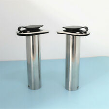 2X 15/30/90° Stainless Steel Boat Fishing Rod Holder Flush Mount with PVC inner