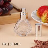 1×15ML Mini Empty Glass Bottle Spray Perfume Cologne Refillable Travel Organi Fz