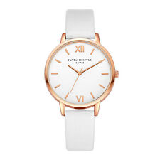 Casual Women Luxury Quartz Analog Dress Watch Gold Leather Band Wrist Watches AU