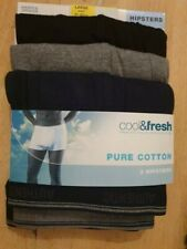 3 PAIRS LARGE 36-38 WAIST HIPSTER BOXER SHORTS MARKS AND SPENCER