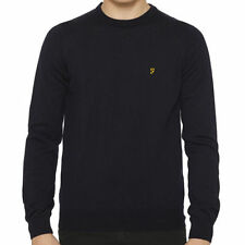 Farah Wool No Pattern Crew Neck Jumpers & Cardigans for Men