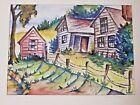 "Allen Shapiro ""A JAY Harry Chess"" Famed GAY EROTIC Artist : Landscape Farm House"