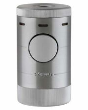 XiKAR 569SL Volta Quad Flame Tabletop Cigar Lighter Gift Box Warranty Silver
