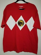 Mighty Morphin Power Rangers Red Stripe XXL Adult T-Shirt Costume