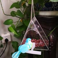 Acrylic Automatic Parrot Feeder No Mess Feeding Seed Container Medium Sized Bird