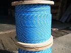 "NovaTech XLE Halyard Sheet Line, Dacron Sailboat Rope 3/16"" x 50' Blue/White"