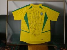 Rare Autographed Brazilian National Team T-Shirt World Cup 2002