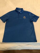 Under Armour Mens Polo HeatGear Blue Size Large Tall Loose Fit