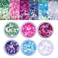 6tlg Glitter Glimmer Nail Glitzer Pulver Glitterstaub Nageldesign Nailart Set