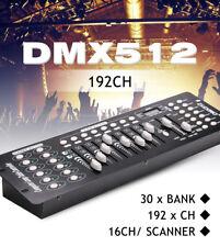 DMX 512 RGBW LED Controller Console Mischpult 192 Kanäle Channels Lichteffekte