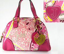 $175 Juicy Couture Paisley Martinique Bowler Handbag w/ Heart Butterfly Charm