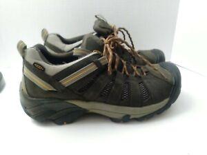KEEN 1002570 Men's Voyageur Water Resistant Hiking Shoes Dark Green - Size 11.5