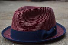 Mens Summer Fedora Hat, Poly braid Bound edge, Crushable Porkpie Hat EPf2808