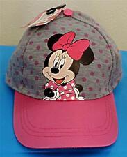 7ea22b74c920d8 Disney Minnie Mouse Adjustable Baseball Cap Velcro Strap Closure Pink Satin  Bill