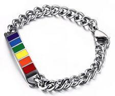 Regenbogen Gay Edelstahl Schwule Armband Armreif LGBT Les