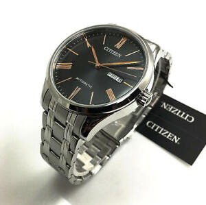 Men's Citizen Automatic Stainless Steel Day-Date Watch NH8360-80J