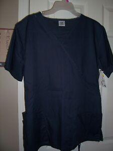NWT Bobbie Brooks DARK GRAY Uniform Scrub Top Size 1X Top #2