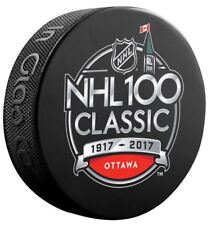 NHL 100 CLASSIC PUCK 2017 OTTAWA SENATORS MONTREAL CANADIENS STANLEY CUP CHAMPS
