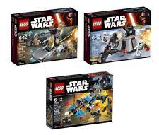 LEGO 75131, 75132, 75167 - Star Wars - Battle Pack Lot (3 Sets) - NEW