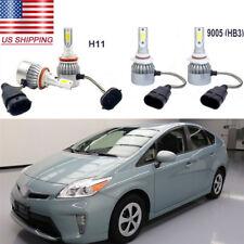 4Pc 72W Car COB LED Headlight Hi/Low Beam Bulbs Kit 6000k for Toyota Prius 10-15