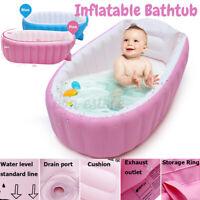 Baby Inflatable Bathtub PVC Thick Portable Bathing Bath Tub for Kid Newborn US