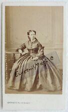 CDV PHOTO second empire LEVITSKY à PARIS Miss DOËL  jeune femme F607