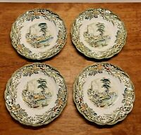 SET-4 Ridgway England HERITAGE SAUCERS Side Plates Bartletts Early Canada Scenes