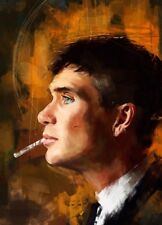 """Extra Large Peaky Blinders Wall Art Canvas 20"""" X 30"""" solid frame oil painting"""