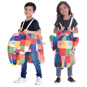 Child Elmer The Elephant Ride On Fancy Dress Costume Book Day Kids Boys Girls