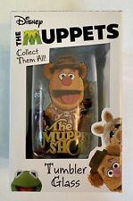 Fozzie Bear Disney Muppet Show Tumbler Glass Character Collectible Nib Diamond