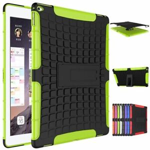 Shockproof Armor Grip Rugged TPU PC Hybrid Stand Hard Case Cover For iPad Model
