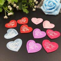 50 x I Love You Fabric Hearts Wedding Petals Confetti Flowers Wedding Valentine