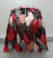 Multi Color Fashion Women Short Faux Fox Fur Coat Jacket Winter 2019 New Outwear