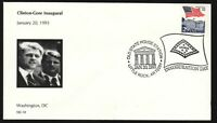 1993 Clinton Gore inaugural - Arkansas Old State House pictorial cancel