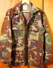 U.S. ARMY AIR FORCE COMBAT COAT SHIRT - SIZE MED.-REGULAR  - WOODLAND CAMO BDU