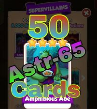 Coin Master :-) 50x Amphibious Abe Card- Lighting Fast Sending Speed