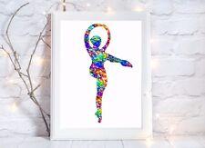 Ballerina Balletto Acquerello a4 LUCIDA POSTER STAMPA FOTO Vivaio