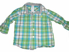C & A tolles Hemd Gr. 68 grün-blau kariert !!