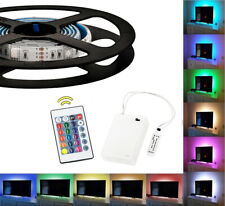 Waterproof Battery Powered RGB LED Strip Light Remote Control Lighting 1m LD1453