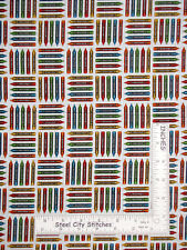 Crayon Color Student Teacher Art Cotton Fabric Studio E School Zone By The Yard