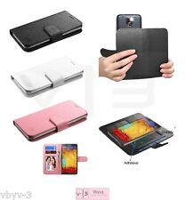 """Universal Cell Phone Cover Leather Wallet Case Slide Camera Size 4.7""""- 5.2"""" +Kit"""