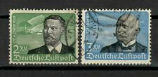 s31222) GERMANY 1934 USED Air Mail 2 high values 2dm + 3dm Zeppelin 2v