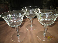 Three Beautiful Crystal Stem Ware Dessert Parfait Dishes