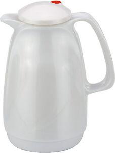 Rotpunkt Isolierkanne 0,5 l Shiny white Starkglaseinsatz Thermoskanne