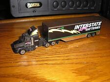 "7"" long RC Dale Jarrett Interstate Batteries Semi Tractor Nascar Trailer F/S"