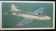 Vickers Supermarine Attacker  Fleet Air Arm Jet Fighter  Vintage Picture Card
