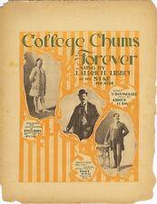 College Chums Forever, J. Aldrich Libbey, newspaper supplement sheet music, 1899